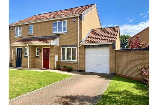 Thumbnail Semi-detached house for sale in Jubilee Close, Cherry Willingham, Lincoln
