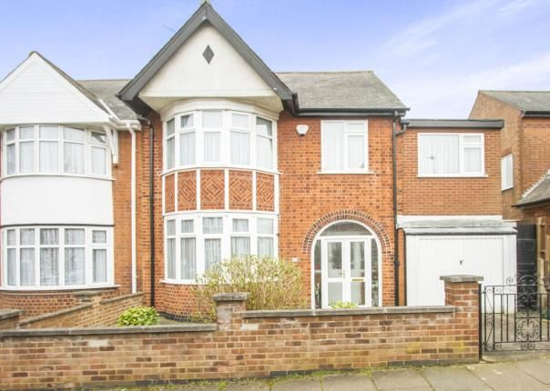 Thumbnail Link-detached house for sale in Ashleigh Road, Leicester, Leicestershire