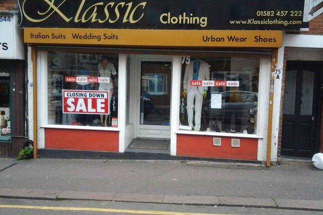 Thumbnail Retail premises to let in Wellington Street, Luton