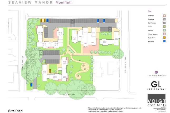 Site Plan of Seaview Manor, 10 Lairds Walk, Monifieth, Dundee DD5