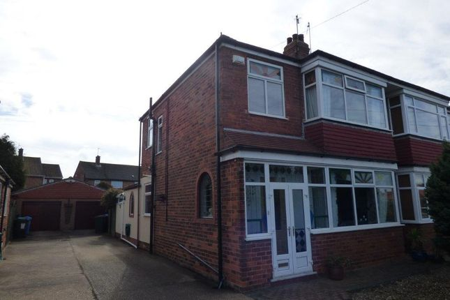 Thumbnail Semi-detached house for sale in Ganstead Lane, Bilton, Hull