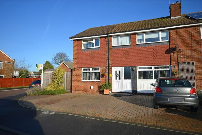 Thumbnail Semi-detached house for sale in Coleford Close, Mytchett, Camberley, Surrey