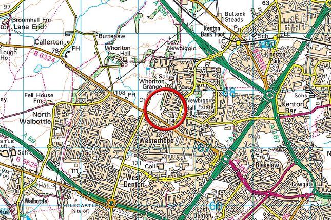 Location Map of Aston House, Redburn Road, Newcastle Upon Tyne NE5