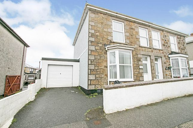 Thumbnail Semi-detached house for sale in Wellington Road, Camborne, Cornwall