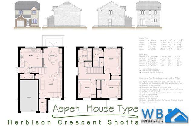 3 bed detached house for sale in Reserved... Plot 104 Herbison Crescent, Shotts, Shotts
