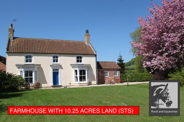 Thumbnail Farmhouse for sale in Manor Farmhouse, Asterby Lane, Lincolnshire Wolds, Goulceby