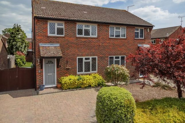 Thumbnail Semi-detached house to rent in Barnetts Field, Westergate, Chichester