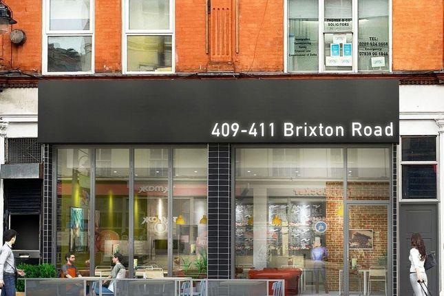 Thumbnail Retail premises to let in 409-411 Brixton Road, Brixton, London, Greater London