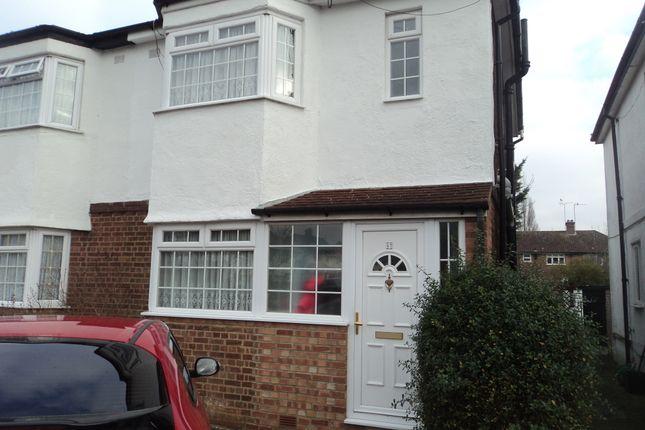 Thumbnail Semi-detached house to rent in Cardinal Avenue, Borehamwood