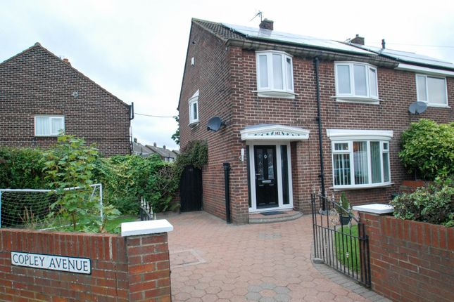 Thumbnail 3 bed semi-detached house for sale in Copley Avenue, South Shields