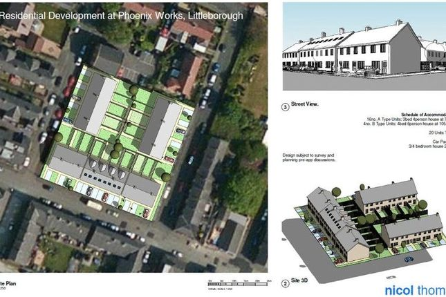 Thumbnail Land for sale in Phoenix Iron Works Site, Howarth Street, Littleborough, Rochdale