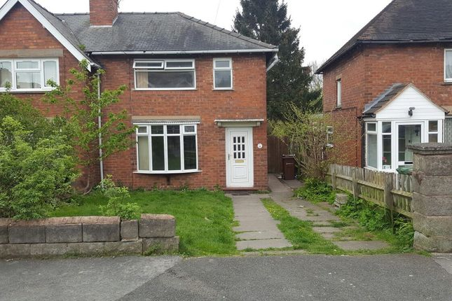 Thumbnail Semi-detached bungalow to rent in Willows Road, Walsall, West Midlands