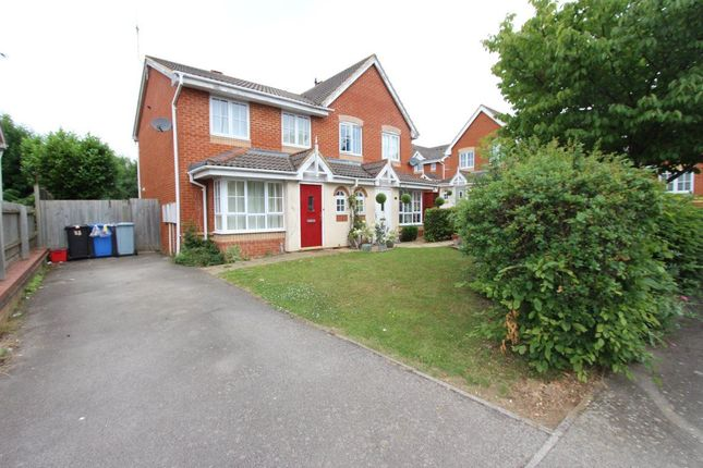 Thumbnail Semi-detached house to rent in Abbots Close, Kettering