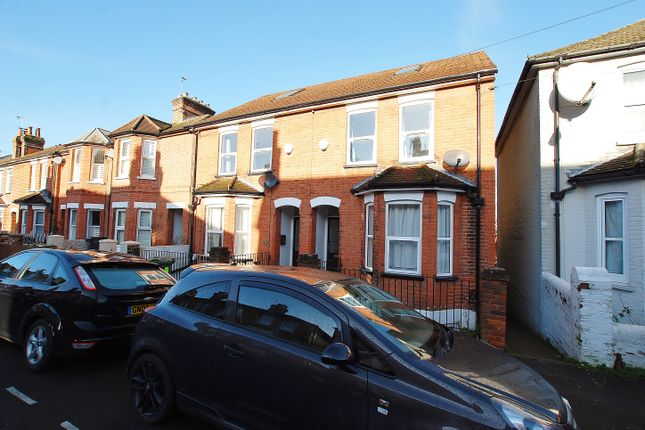 Thumbnail End terrace house to rent in Testard Road, Guildford