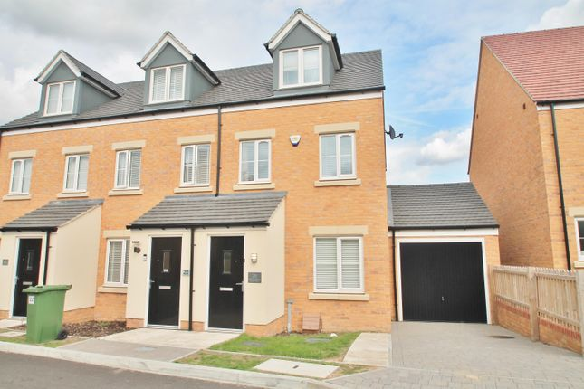 Thumbnail End terrace house to rent in Green Oak Crescent, Iwade, Sittingbourne