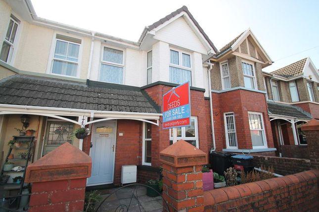 Thumbnail Terraced house for sale in Badminton Grove, Glyncoed, Ebbw Vale, Blaenau Gwent