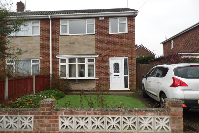 Thumbnail Semi-detached house to rent in Rushley Close, Auckley, Doncaster
