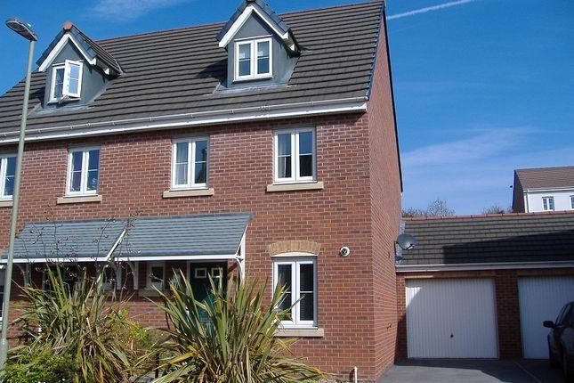 Thumbnail Semi-detached house to rent in 35 Longacres, Bridgend, Bridgend.