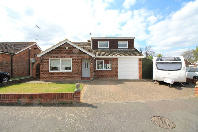 Thumbnail Detached bungalow for sale in Chegworth Gardens, Tunstall, Sittingbourne