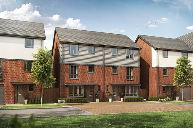 "Thumbnail Town house for sale in ""The Carter"" at Chadwick Close, Rednal, Birmingham"