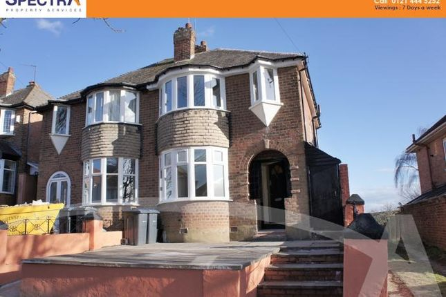Thumbnail Semi-detached house to rent in Yarningale Road, Kings Heath, Birmingham