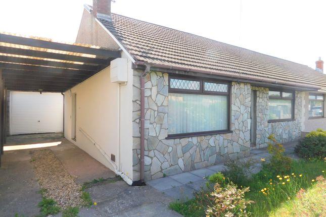Thumbnail Semi-detached bungalow to rent in Heol Y Bronwen, Aberavon, Port Talbot