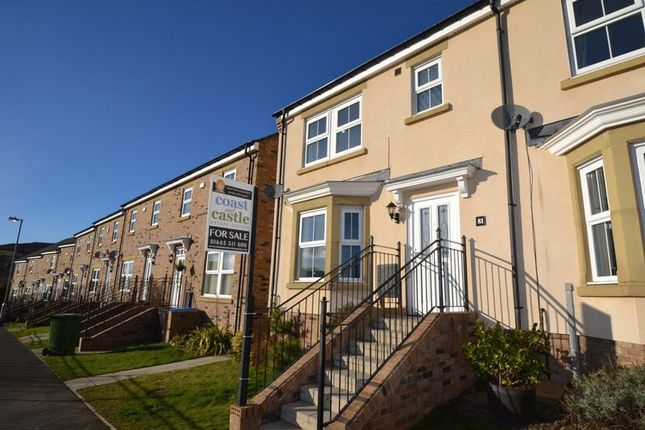 Thumbnail End terrace house for sale in Whitton View, Rothbury, Morpeth