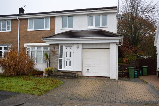 Thumbnail Semi-detached house to rent in Pinewood Hill, Talbot Green, Pontyclun