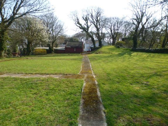 Rear Lawn of Pentrefelin, Amlwch, Sir Ynys Mon LL68