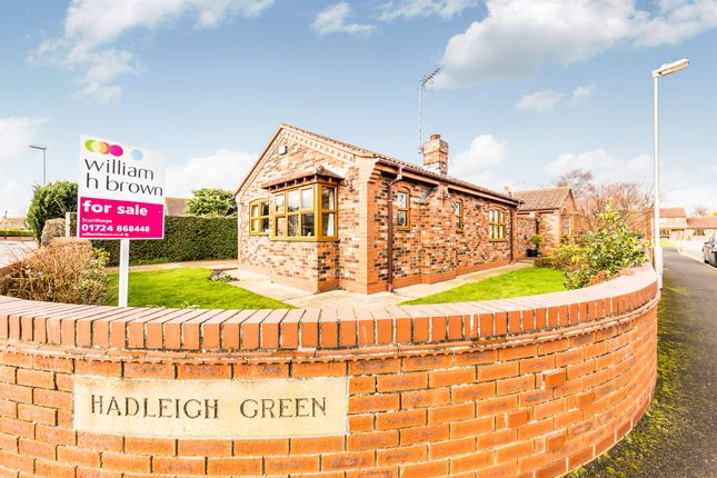 Thumbnail Detached bungalow for sale in Hadleigh Green, Burringham, Scunthorpe
