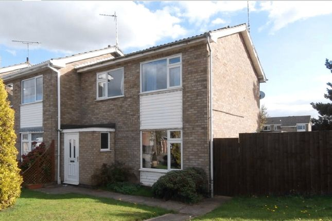 Thumbnail End terrace house to rent in Uppingham Drive, Broughton Astley, Leicester, Leicestershire