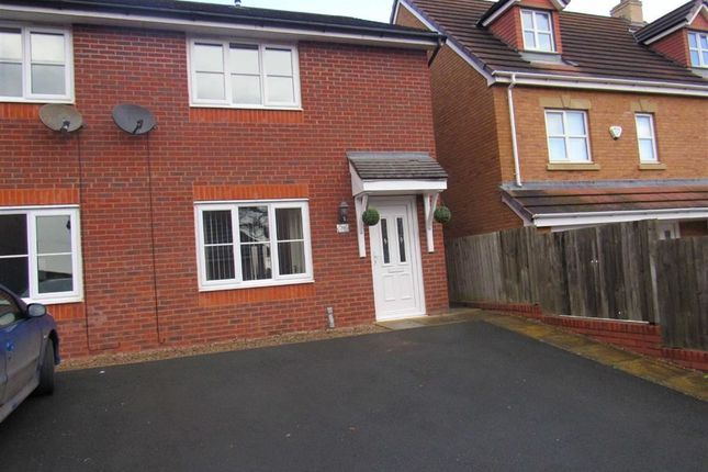 Thumbnail Semi-detached house to rent in Cae Onan, Morda, Oswestry