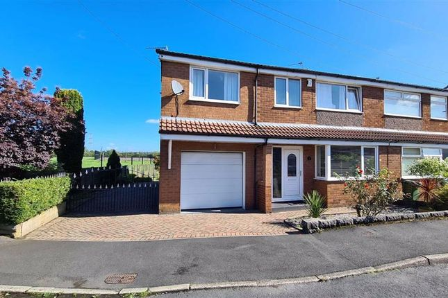 Thumbnail Semi-detached house for sale in Woodleigh Drive, Littlemoss, Manchester
