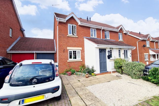 Thumbnail Semi-detached house for sale in Oakham Close, Desborough, Kettering
