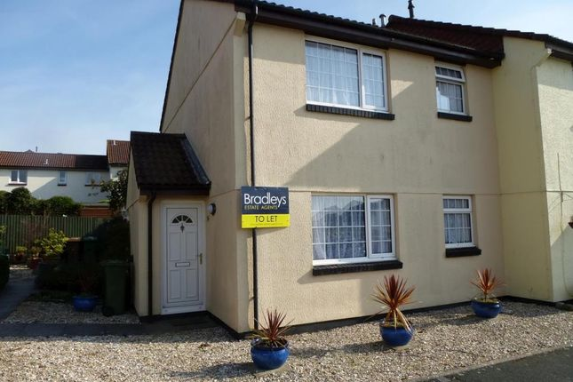 Thumbnail End terrace house to rent in Buddle Close, Plymstock, Plymouth, Devon