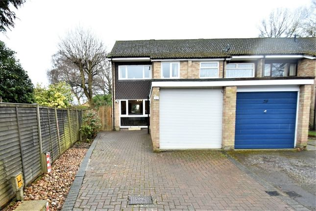 Thumbnail Semi-detached house for sale in Leonard Close, Frimley, Camberley, Surrey