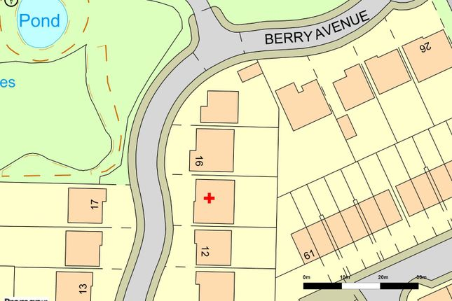 Plot Map of Berry Avenue, Whittle-Le-Woods, Chorley, Lancashire PR6