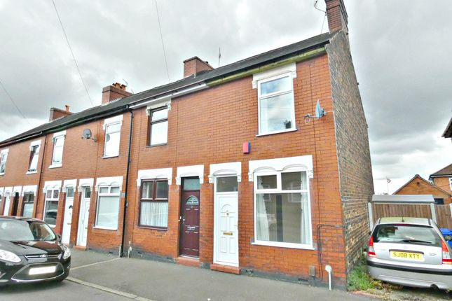 Thumbnail End terrace house to rent in Cowper Street, Fenton, Staffordshire