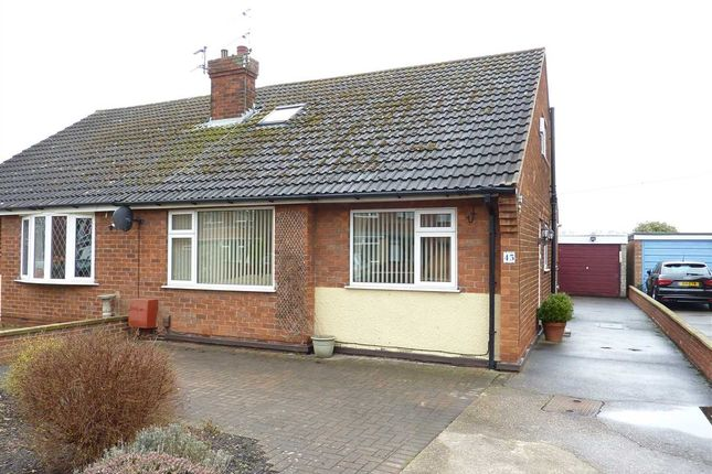 Thumbnail Semi-detached bungalow for sale in Charles Avenue, Laceby, Grimsby