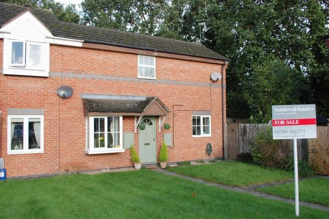 Thumbnail End terrace house for sale in Plover Close, Alcester