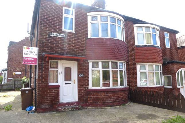 Thumbnail Semi-detached house for sale in Hutton Avenue, Hartlepool