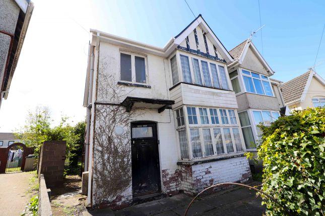 Thumbnail Semi-detached house for sale in Garden Crescent, Garden Village, Swansea