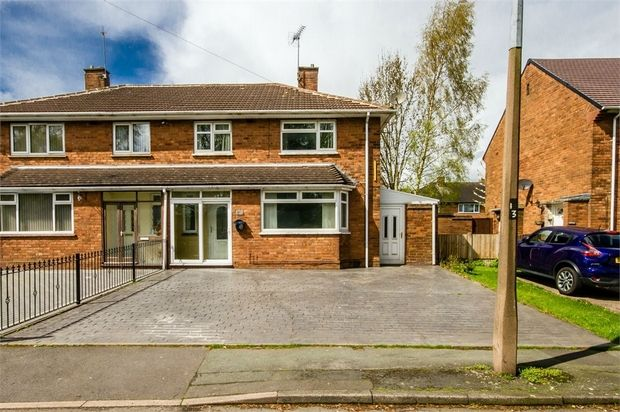 Thumbnail Semi-detached house for sale in Cannock Road, Wednesfield, Wolverhampton, West Midlands