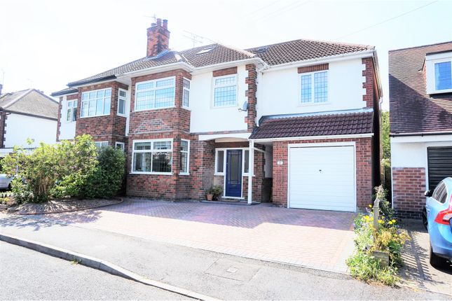 Thumbnail Semi-detached house for sale in Barden Drive, Allestree