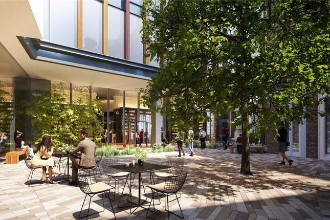 Courtyard of One Crown Place, Hackney EC2A