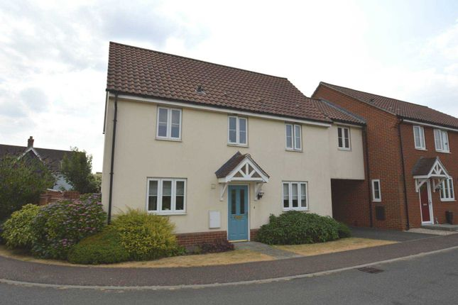 Thumbnail Link-detached house for sale in Worcester Road, The Hampdens, New Costessey, Norwich