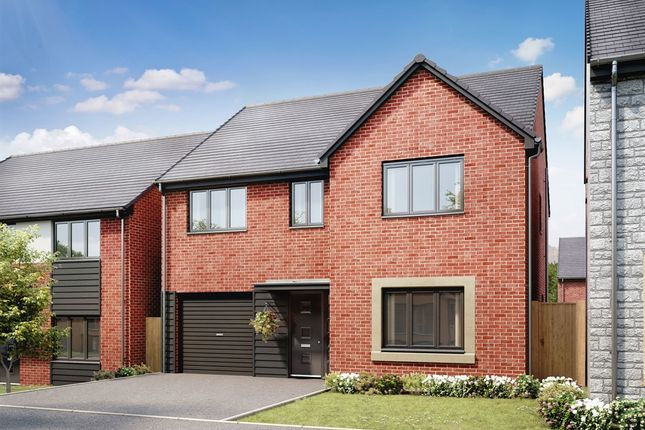 "Thumbnail 4 bed detached house for sale in ""The Harley"" at Llantrisant Road, Capel Llanilltern, Cardiff"