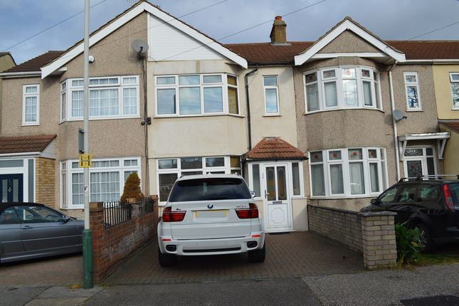 Thumbnail Terraced house to rent in Hawthorn Avenue, Rainham, Essex