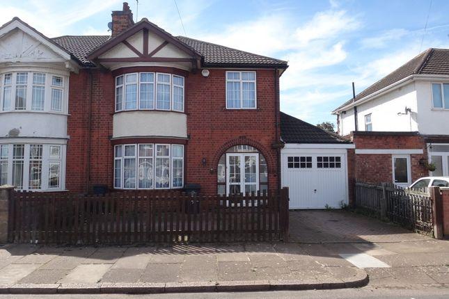 Thumbnail Semi-detached house for sale in Sandringham Avenue, Belgrave, Leicester