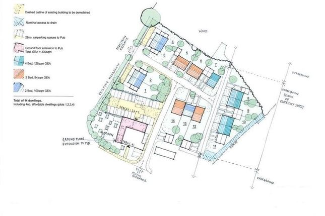 Thumbnail Land to let in Residential Development Site, Adjacent The Pheasant Inn, Drake Street, Welland, Worcestershire